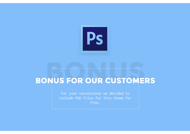 Bonus for our customers