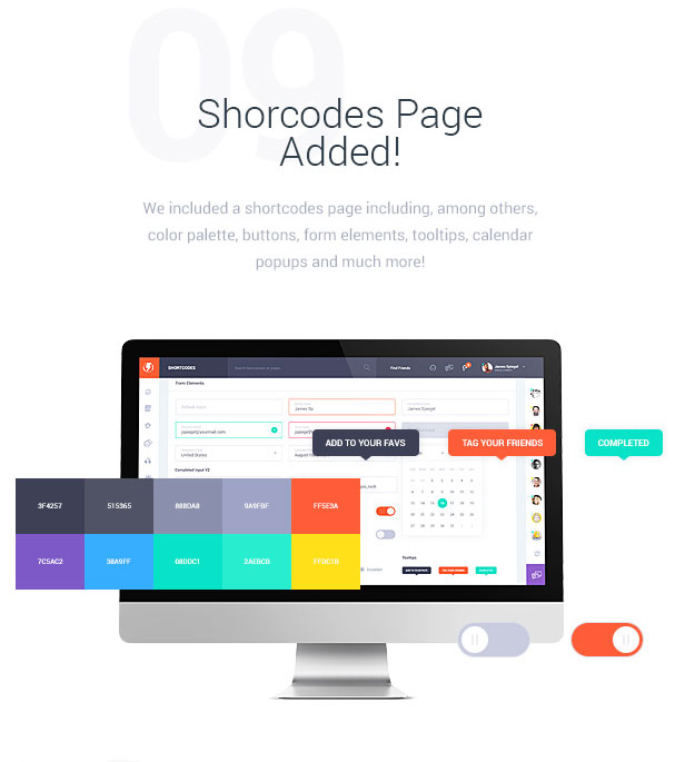 Shortcodes Page Added