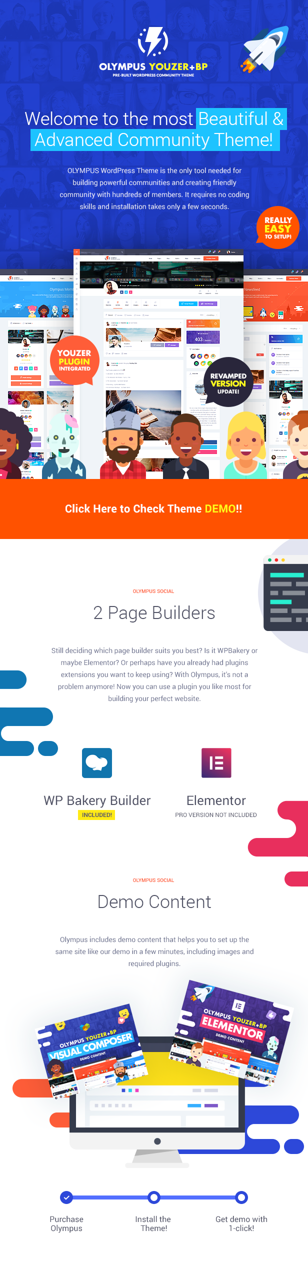 Welcome to the most Beautiful & Advanced Social WP Theme!