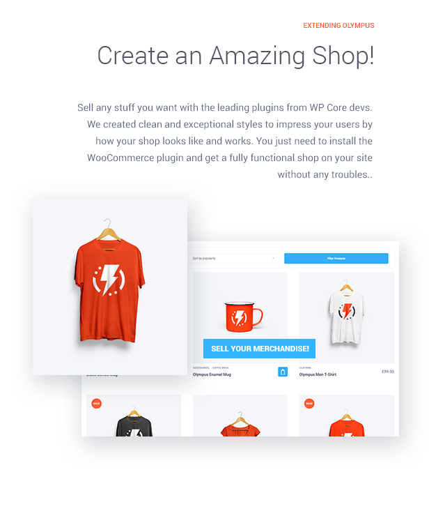 Create outstanding shop