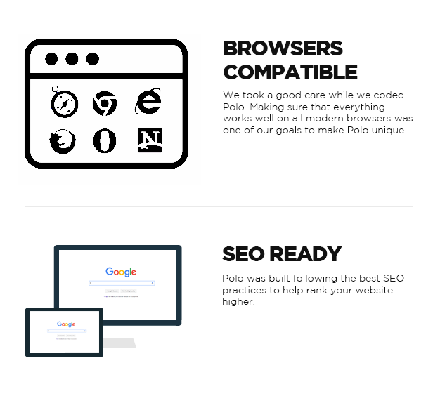 BROWSERS �COMPATIBLE, SEO READY