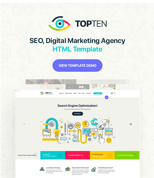 SEO, Digital Marketing Agency HTML Template