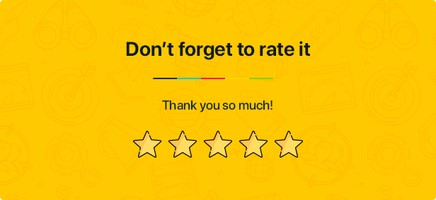 Don't forget to rate it
