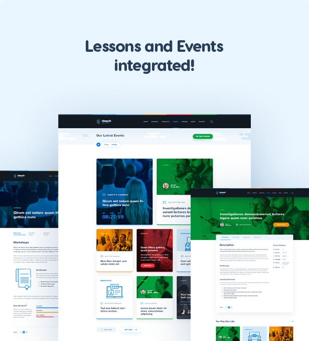 Lessons and Events integrated!