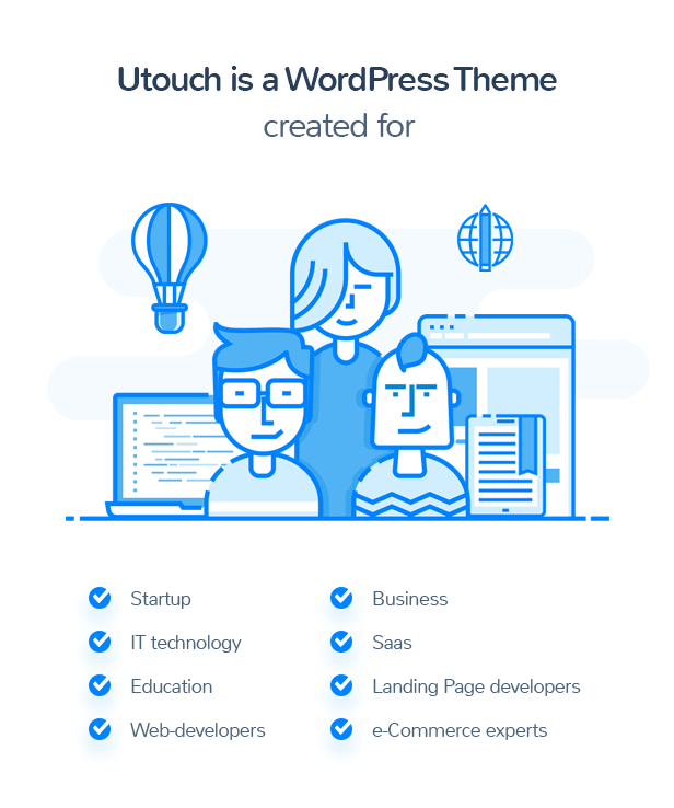theme for saas, sturtup, business