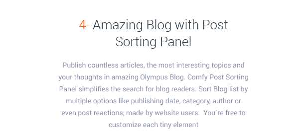 Amazing Blog with Post Sorting Panel