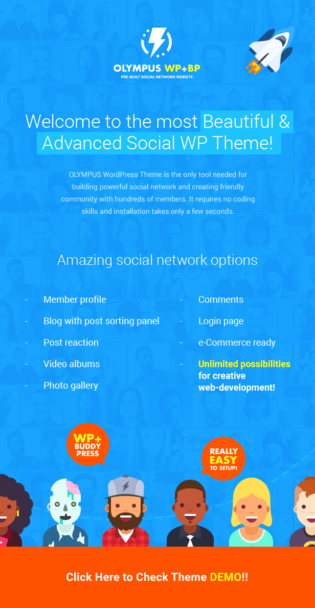 most Beautiful & Advanced Social WP Theme!
